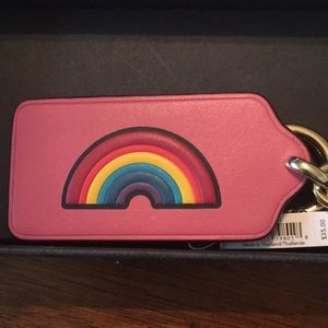 Brand New, Coach Leather Rainbow Keychain! #pride